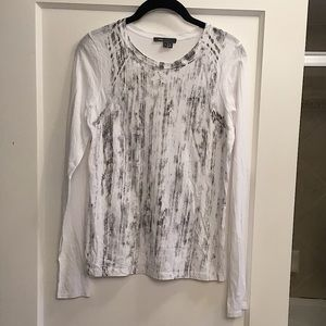 NWOT Vince grey and white long sleeve